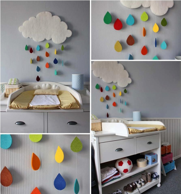 diy-baby-room-decor-rainy-cloud-raindrops-felt-colourful