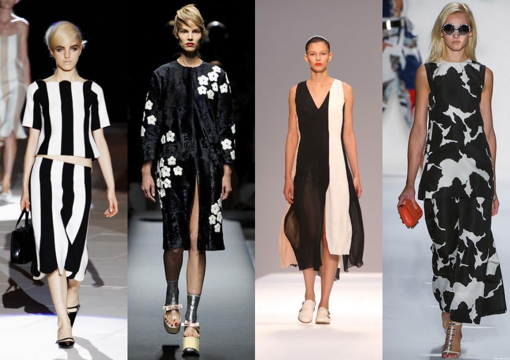 Monokrom-elbiseler